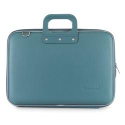 Geanta lux business laptop 15 in Clasic vinil Bombata-Turcoaz