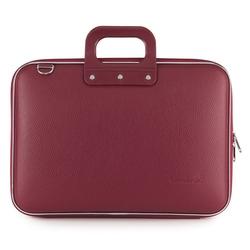 Geanta lux business laptop 15 in Clasic vinil Bombata-Grena