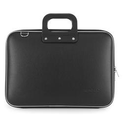 Geanta lux business laptop 15.6 in Clasic vinil Bombata-Negru