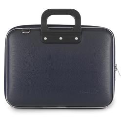 Geanta lux business laptop 13 in Medio Bombata-Bleumarin