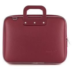 Geanta lux business laptop 13 in Medio Bombata-Grena