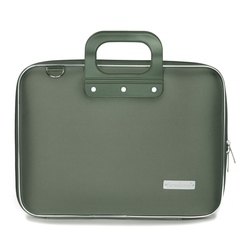 Geanta lux business laptop 13 in Nylon Bombata-Verde