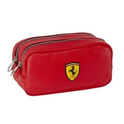 Penar compartimentat cu 2 fermoare Ferrari rosu