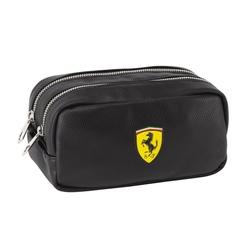 Penar compartimentat cu 2 fermoare Ferrari negru