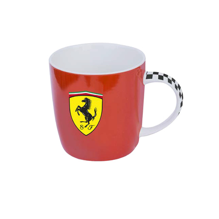 Cana Ferrari ceramica rosie
