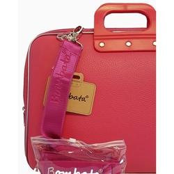 """Geanta lux business/laptop 17"""" Maxi Bombata-Roz inchis jad flamande"""
