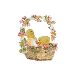 Felicitare 3D - Chicks in a Basket