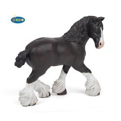 Cal mare negru rasa Shire - Figurina Papo