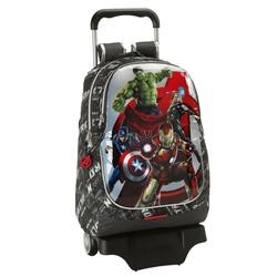 Ghiozdan Avengers cu troler 44 cm