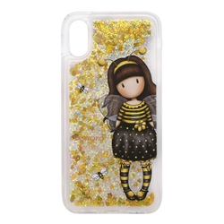 Husa iPhone X/XS cu glitter Gorjuss Bee Loved