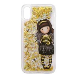 Husa iPhone X/XS cu glitter Gorjuss Bee Loved
