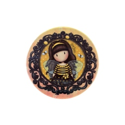 Cutie metalica rotunda mica Gorjuss Bee Loved