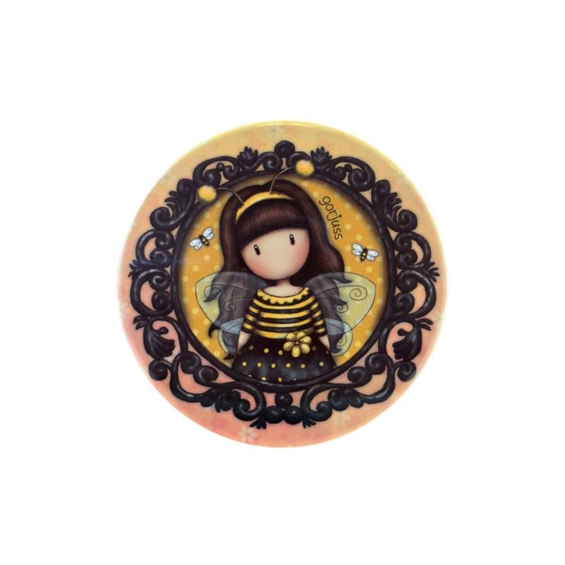 Cutie metalica rotunda mica Gorjuss Bee Loved