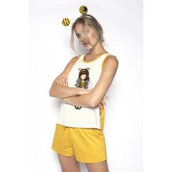 Pijama fete cu maieu Gorjuss Bee Loved, scurte