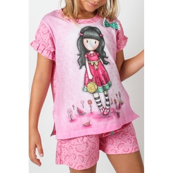 Pijama copii cu tricou Gorjuss Every Summer Has A Story, scurte