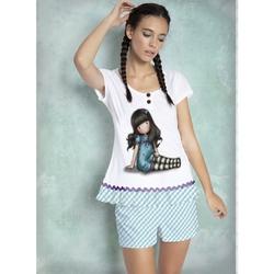Pijama fete cu tricou Gorjuss Sitting Pretty, scurte
