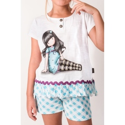 Pijama copii cu tricou Gorjuss Sitting Pretty, scurte