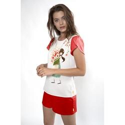 Pijama fete cu tricou Kori Kumi Pretty as a Flower, scurte