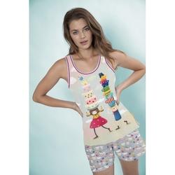 Pijama fete cu maiou Kori Kumi Tea Party, scurte