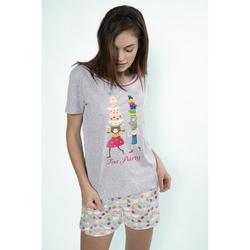 Pijama fete cu tricou Kori Kumi Tea Party, scurte