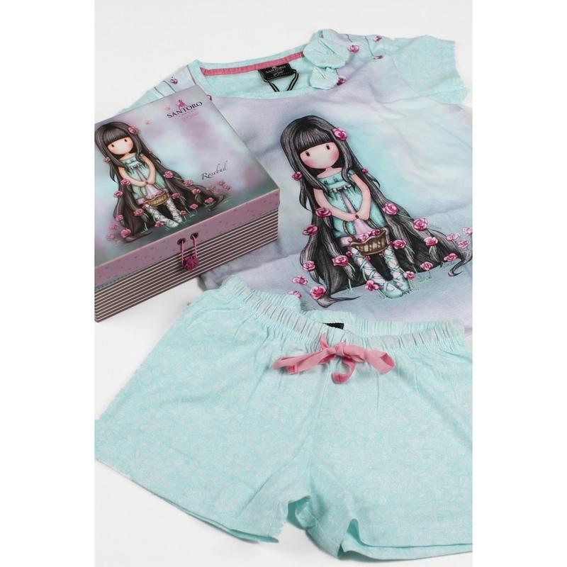 Pijama copii cu tricou Gorjuss Rosebud, scurte