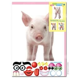 Felicitare amuzanta Little Extra Porc. O felicitare draguta pentru cei dragi.