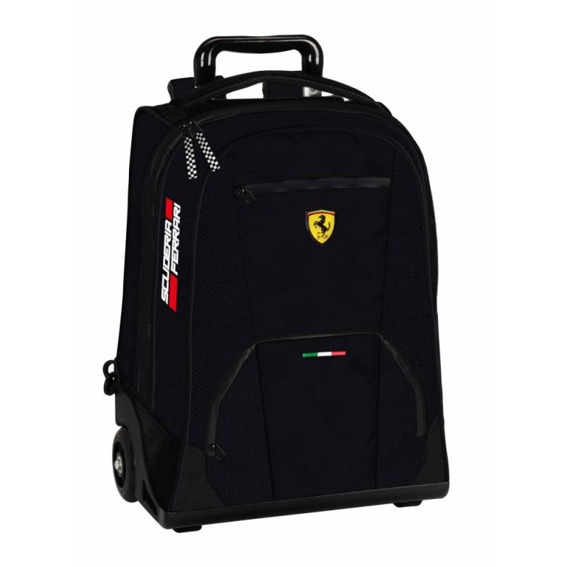 Troler Ferrari scoala negru 47 cm produs 100 % original