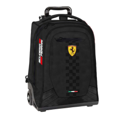Troler Ferrari negru scoala 47 cm produs original 100 %