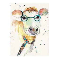 Felicitare Eclectic Watercolour Cow O felicitare perfecta pentru a fi daruita celor dragi.