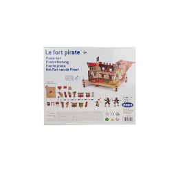 Figurina Papo - Set fort pirati carton+3 figurine