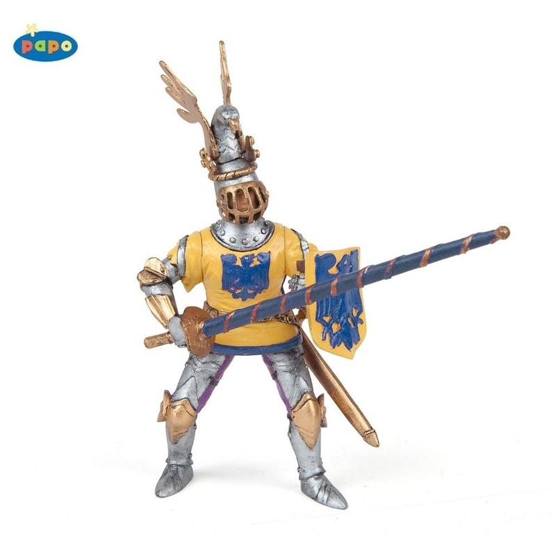 Figurina Papo-Cavaler Godefroy albastru
