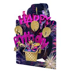 Felicitare aniversara 3D Swing Cards - La multi ani