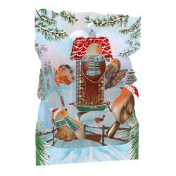 Felicitare 3D Swing Cards de iarna – Vrabiile Craciunului. O felicitare draguta care aduce bucurie celor dragi in sezonul rece.