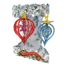 Felicitare 3D Swing Cards de iarna – Globuri de Craciun. O felicitare cu adevarat de iarna