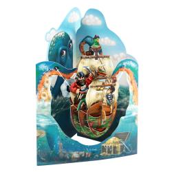 Felicitare 3D Swing Cards – Corabie de pirati 2. O felicitare perfecta pentru cei dragi.