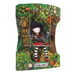Felicitare 3D Swing Cards – Gorjuss Ruby. o felicitare tridimensionala cu spatiu pentru scriere mesaj.