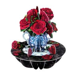 Felicitare 3D Pirouettes Santoro-Trandafiri. O felicitare perfecta pentru copii si adulti