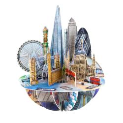 Felicitare 3D Pirouettes Santoro-Londra o felicitare 3D draguta pentru copii.