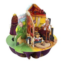 Felicitare 3D Pirouettes Santoro-Aladdin, Motanul Incaltat si Pinocchio este o felicitare perfecta pentru copilul tau.