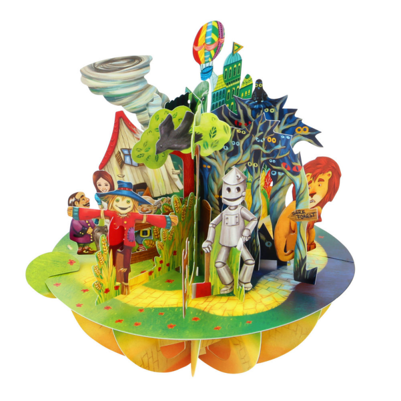 Felicitare 3D Pirouettes Santoro-Vrajitorul din Oz. O felicitare perfecta pentru copii si adulti.