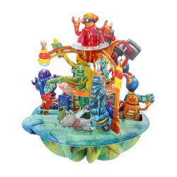 Felicitare 3D Pirouettes Santoro-Roboti. O felicitare tridimensionala pentru copii si adulti