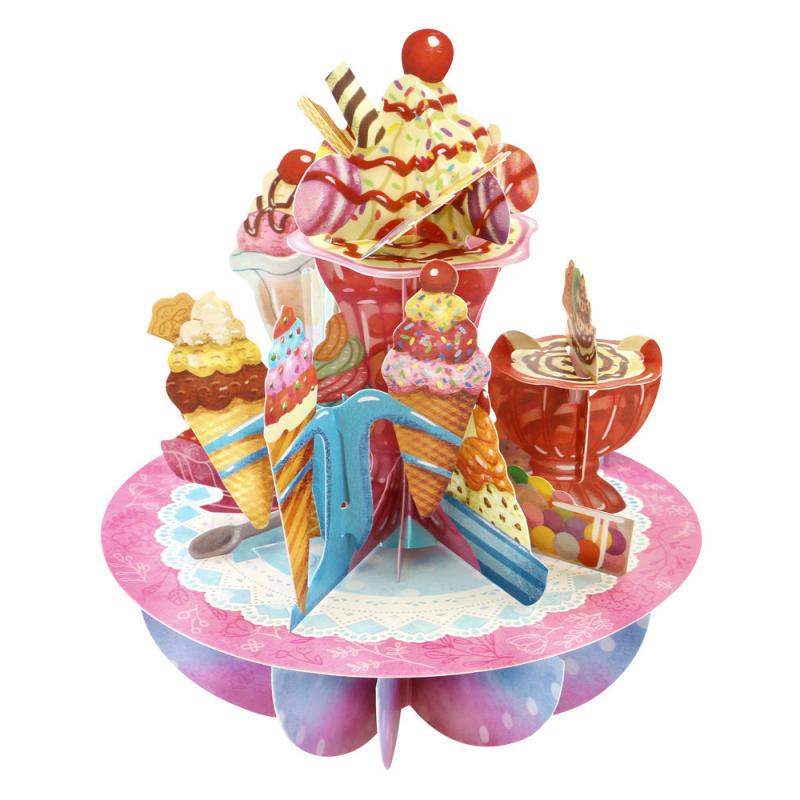 Felicitare 3D Pirouettes Santoro-Inghetata. O felicitare 3D  pentru copii si adulti.