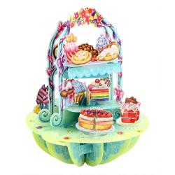 Felicitare 3D Pirouettes Santoro-Candybar. O felicitare perfecta pentru copii si adulti!