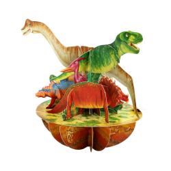 Felicitare 3D Pirouettes Santoro-Dinozauri. O felicitare speciala pentru copii si adulti