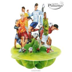 Felicitare 3D Pirouettes Santoro-Fotbal. O felicitare 3D draguta care va surprinde prin excelenta.