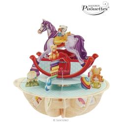 Felicitare 3D Pirouettes Santoro-Calut balansoar. o felicitare draguta indragita de copii