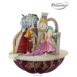 Felicitare 3D Pirouettes Santoro-Printese. O felicitare tridimensionala cu printese pentru cei dragi.