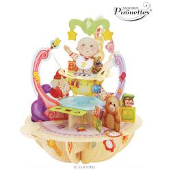 Felicitare 3D Pirouettes Santoro-Nou nascut va fi indragita de orice copil.
