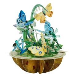 Felicitare 3D Pirouettes Santoro-Fluturi si libelule. O felicitare pentru  copii si adulti