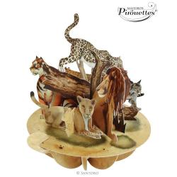 Felicitare 3D Pirouettes Santoro-Feline mari. O felicitare ideala pentru copii si adulti.